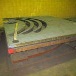 sheet steel cutout